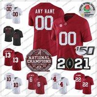 Benutzerdefinierte 2021 Alabama Crimson Tide 6 Devonta Smith 10 Mac Jones 22 Najee Harris Tagovailoa 4 Brian Robinson Jr. Meisterschaft Rose Bowl Jersey