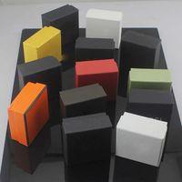 حار بيع مربع المجوهرات مع ختم mulitcolor إلكتروني مجوهرات التعبئة والتغليف عرض حالة مربع مربع أسود جودة عالية