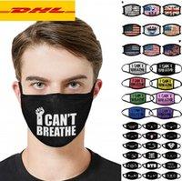 DHL3-5 Tage Designer Maske Anti-Staub-Gesichtsmaske Ich kann nicht atmen Leben Schwarz Matter Trump Cotton für Radfahren Flagge Waschbar wiederverwendbaren Tuch Masken