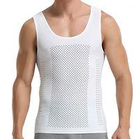 Erkekler Vücut Şekillendirme Palicy erkek Zayıflama Shapewear Korse Yelek Gömlek Sıkıştırma Karın Karın Göbek Kontrolü Ince Bel Cincher