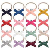 16 cores / lote crianças bebê headbands headwear nylon elástico cabelo armado artesanal boutique hairband turban headwear acessório de cabelo q sqclxr
