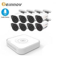 Kablosuz Kamera Kitleri Einnov 8CH 2MP 1080 P CCTV NVR Ev Güvenlik Sistemi Kiti DVR AHD Kameralar Ses HD P2P Açık Video Gözetim IR-Cut1
