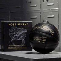 Spalding 24k الأسود مامبا ميرش كرة السلة الكرة التذكارية الطبعة بو ارتداء مقاومة اعوج الحجم 7