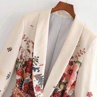 Veste de costume féminine vintage avec une courroie panteur de jambe costume Set Harajuku Femmes Manteau 2020 Spring Elegant Outwear Lady Blazer1