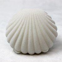 Shell forma imballaggio scatola di gioielli ornamenti ornamenti regalo anello flanellante anello originalità contenitori di stoccaggio spedizione gratuita vendita calda 2 5nH f2