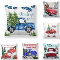 Подушка / декоративная подушка из Гзцмы Рождественские украшения веселые украшения для домашнего года 2021 Navidad Natal автомобиль сосновая подушка 45x45см1
