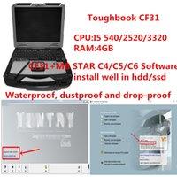 Лучшая цена CF31 ноутбук диагностики PC 4GB i5 с MB звезда C4 / C5 / C6 V2020.09 мягкой вещевого работы диагностической c5 / инструмент c4