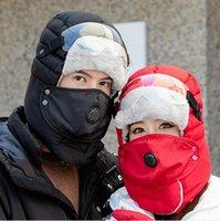 Winter Ловец Trooper Hat ветрозащитный очки Теплые Сплошные цвета маски меховые ушанки Спорт на открытом воздухе Прогулки на лыжах Охота Hat DDA710