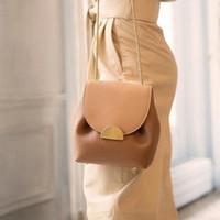 ValenKuci Women Leather Bag Retro Lady Bags France Famous Brand Crossbody Bag Elegant Luxury Designer Bucket Bags Chain Handbags #O03Z