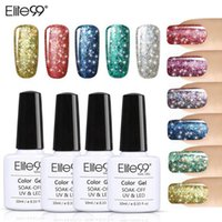 Nail Gel Elite99 Super Bling Polonês Pure Soak Desligado UV LED Starry Glitter Lantejoulas para Art 10ml