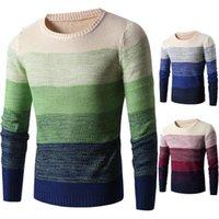 Осень зима новый свитер мужчин 2021 повседневный вязаный мягкий хлопок уплотнительные свитеры пуловер мужская мода полосатый пальто мужской