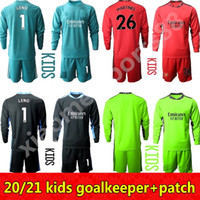 20 21 Bambino Giovanito Portiere a maniche lunghe 1 Leno 26 Martines Soccer Jersey Set GK Kit Kit Kit Kit da calcio Kit