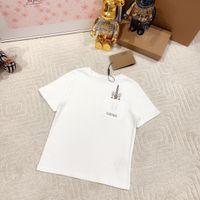 2021SS Designer Kleidung Kinder T-shirt Baby Designer Kleidung Baumwolle T-Shirt Jungen T-shirt Einhorn Weiß 90-160