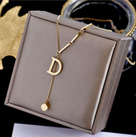 DD Venta caliente del collar collares de la manera colgante de la mujer del hombre Collares Colgante de la joyería con alta calidad 5 Modelo opcional 2102302B