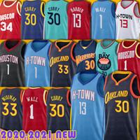 Stephen 30 Curry 13 Harden Jersey Wiseman Hakeem Chris Olajuwon Paul John Draymond Wall Green Klay Russell Thompson Basketball Herren