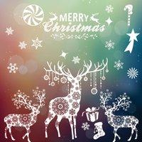 2020 Decor For Window Christmas Glass Stickers Natal Stickers Xmas Wall Ornament New Decorations Year Navidad Home Xqiqa