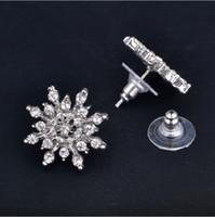 Brincos de floco de neve floco de neve bijoux brincos brilhando brinco de cristal de cristal de cristal