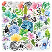 3 Sets=150PCS Color Plant Stickers Notebook Scooter Refrigerator Water Cup Stickers