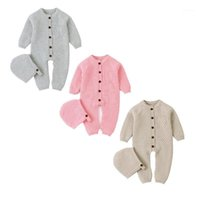 Winter Baby Romper Newborn Baby Boy Girl Knit Romper Wool Sw...