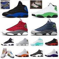 nike air jordan retro 13 jumpman 13 13s hombres mujeres de los hombres zapatos de baloncesto reflectante Hyper Real Lucky Red Flint Aurora verdes zapatillas deportivas