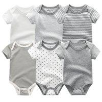 Baby Rompers с коротким рукавом для девочек одежда летние детские детские носить комбинезоны Bebe одежда, младенцы продукта 201029