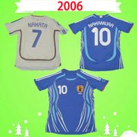 JAPÃO 2006 Retro Soccer Jerseys azul branco NAKAMURA vintage Camiseta de futbol MOTOYAMA football shirts INAMOTO NAKATA ONO top quality