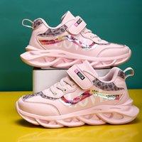 Printemps nouveaux enfants PU Chaussures en cuir PU bébé Filles Sports Sneakers Enfants Chaussures Garçons Mode Casual Chaussures Soft Marque Trainer 201130