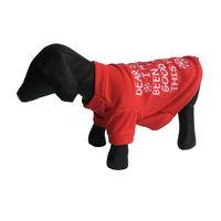 Boże Narodzenie Pet Cartoon Pies Ubrania Zimowy Pogrubienie Sweter Tactic Cloth Puppy Bullfight Bądź dobrymi psami Red Snowflake New Arrival 7 5 pp M2