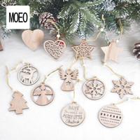 Рождество Лазерная резного дерева Hollow Подвеска Малый сердца Снежинка Рождественская елка ангела висячие украшения Новогоднее украшение