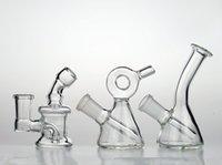 eau petit verre bongs mini-pipes distillent un bol de bol dab d'huile de plates-formes recycleur downstem barboteur perc 14mm
