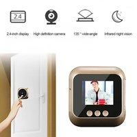 2,4 Zoll Peephol Kamera WiFi Home Sichtbare Katze Eye Smart Doorbell Voice Phone Intercom Sicherheitskamera Türklingel Wireless1
