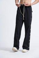 19SS Owen Skea Hombre Pantalones 100% algodón Ropa de hombre Gótico Sweypants Otoño Mujeres Sólidas Pantalones Sueltos Tamaño XL1
