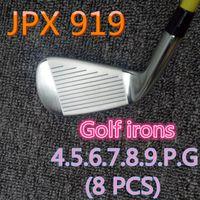 8PCS JPX919 Set Golf Schmiedeeisen Golf Club 4-9PG R / S Mild Stahl / Graphit-Club Head Cover
