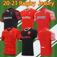 2020 2021 Galler Güzel Rugby Ulusal Takım Formalar Cymru Ev Kırmızı Uzaktan Erkekler Polo T-Shirt E Erkekler Rugby Eğitim Jesery Üniformaları S-5XL