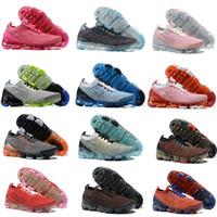 2020 2019 Air Vapormax Flyknit 남성 여성 CHAUSSURES 플라이 3는 Moc 니트 트리플의 블랙 디자이너 스니커즈 야외 Max Vapor vaporfly Plus 플랫폼 럭셔리 트레이너 Maxes Zapatos 신발을 실행