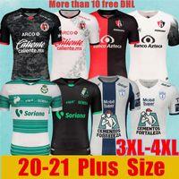 Artı Boyutu 3XL 4XL 2020 Liga Mx Futbol Jersey Tijuana Xolos Santos Laguna Pachuca Atlas Futbol Forması 2021 Meksika Kulübü Eve Uzaktaş Gömlek