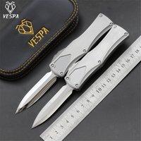 Specchio con coltello Vespa di alta qualità M390 Blade Mano Acciaio Acciaio inox Maniglia in acciaio inox Coltelli da caccia sopravvivenza Knifes Tool Tool Camping EDC