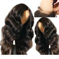 Brésilien de dentelle HD Frontal Perruques Body Human Wave avec bébé cheveux Glueless Hd Transparent Cheveux Vierge pleine dentelle perruque Pré plumé Hairline