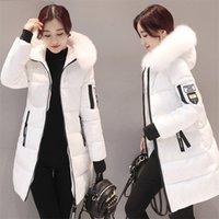 StainLizard Kış Ceket Kadınlar Sıcak Rahat Kapüşonlu Uzun Parkas Kadın Ceket Streetwear Pamuk Beyaz Kadın Ceket Kaban Dış Giyim Yeni 201214