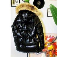 남성용 가죽 가짜 CDN3B Avfly 큰 크기 슈퍼 따뜻한 남성 정품 양 정품 양 90 % 오리 깃털 다운 재킷 롱 코트