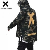 11 Bybb's Dark Big Letter x Coat Camo Jacket Vermelho Amarelo Militar Mobily Windbreakers Hip Hop Jackets Outwear Homens Mulheres Tamanho Y201026