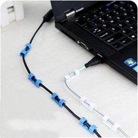 Dispositivo de gestión de hilos de alambre de autohesión Hogar blanco Negro Red de cable Cable de fijación Línea de datos Línea de almacenamiento Almacenamiento Nuevo 1 15ZL J2