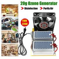 [مع مروحة] 20 جرام 110 فولت / 220 فولت مولد السيراميك المحمولة آلة الأوزون الطويل الحياة تنقية المياه الهواء ozonizer1