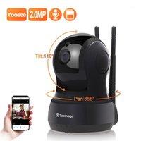 Techage 2MP Беспроводная IP-камера Двухсторонняя аудио безопасности Wi-Fi камера Детский монитор Крытый видео наблюдения Dome1