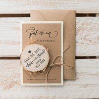 Rustykalny drewniany Zapisz Data Magnes, Niestandardowe Fall Wedding Wood Plasterek Magnesy, Grawerowane Laser Zaproś karty, Zaręczyny Favor Gift1
