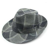Широкие шляпы Breim Xdanqinx Женская новинка Федорас мода джазовая шляпа мужской хип-хоп 2021 летний европейский американский стиль Fedora пара C
