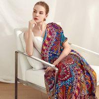 52 «X52» Классический печати 100% шелковый шарф шаль Женщины моды шарфы палантины Cape Женские Роскошные подарки