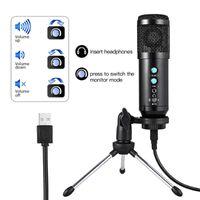 Microfones USB Condensador Microfone para Laptop Mac Computador Windows Studio Gravação Córrego Vocal Vocal Karaoke Game Stand YouTube