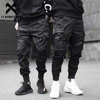 11 bybb os corredores escuros multi-bolso elástico cintura elástica harem homens hip hop streetwear calça lápis calças techwear 201222