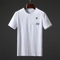 2021 Nouveau été Luxe Luxe Europe Hommes Broderie Bee T-shirt Top Qualité T-shirts T-shirts de haute qualité Designer T-shirt Femmes Street Casual tee